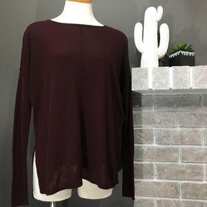 H&M burgundy longsleeve